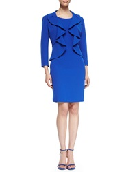 Albert Nipon Structured Crepe Dress Suit