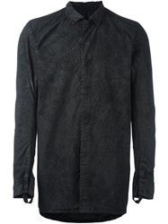 11 By Boris Bidjan Saberi Hidden Fly Shirt Black