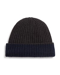 Bloomingdale's The Mens Store At Bloomingdales Reversible Cuff Hat Navy Charcoal