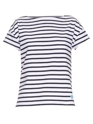 Orcival Breton Stripe Cotton T Shirt White Stripe