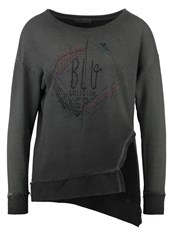 Ltb Owani Sweatshirt Black Acid Splash Anthracite