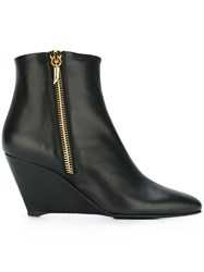 Giuseppe Zanotti Design Wedge Heel Booties Black