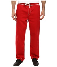 True Religion Contrast Wide Leg Big T Sweatpants True Red Men's Casual Pants