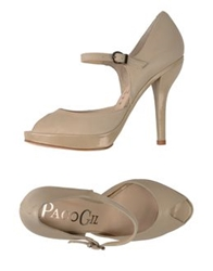 Paco Gil Pumps With Open Toe Beige