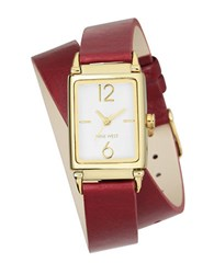 Nine West Goldtone Stainless Steel Strap Watch Nw1954wtby Red