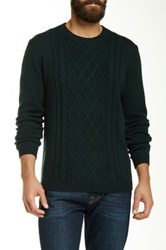 Autumn Cashmere Cable Knit Crew Neck Sweater Green