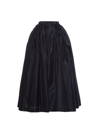 Undercover Gathered Full Silk Midi Skirt