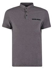 Kiomi Polo Shirt Dark Grey Melange Mottled Dark Grey