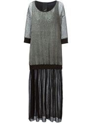Luxury Fashion Sheer Dotted Top Combo Dress