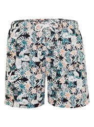 Topman Selected Homme Multicoloured Tropical Print Swim Shorts Pink