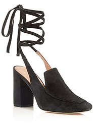 Sigerson Morrison High Heel Ankle Wrap Pumps Black