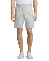 Rag And Bone Standard Issue Twill Shorts Pale Gray Pale Grey