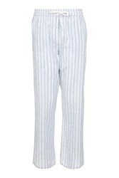 Topshop Striped Pyjama Trousers Blue