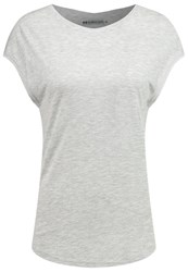 Evenandodd Basic Tshirt Light Grey Melange Mottled Light Grey