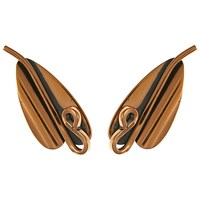 Eclectica Vintage 1960S Renoir Copper Abstract Leaf Clip On Earrings Copper