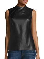 Bailey 44 Faux Leather Blend Sleeveless Top Black