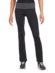 Reebok Solid Banded Athletic Pants Black