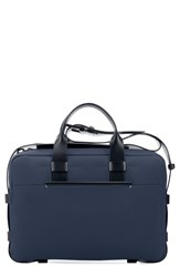 Troubadour Men's Nylon And Leather Briefcase Blue Navy Nylon Navy Leather