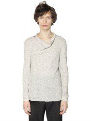 Lanvin Baby Alpaca Ribbed Knit Gauze Sweater