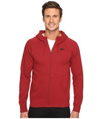 Nike Sb Icon Full Zip Hoodie Team Red Black Men's Sweatshirt