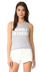 Spiritual Gangster Humble Warrior Muscle Tank Heather Grey