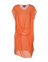 Roberta Furlanetto Short Dresses Orange