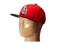 New Era Neon Logo Redux Los Angeles Dodgers Red Black Bright Red Caps