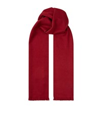 Boss Cashmere Scarf Unisex Red
