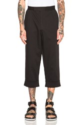 J.W.Anderson J.W. Anderson Crop Pleat Back Trousers In Black