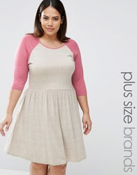 Pink Clove Lounge Raglan Skater Dress Beige