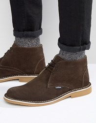 Lambretta Lambratta Desert Boots In Brown Suede Brown