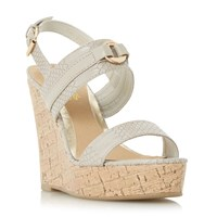 Head Over Heels Kaylee Two Part Cork Wedge Sandals Mink