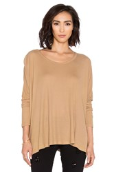 Saint Grace Omega Oversized Top Tan