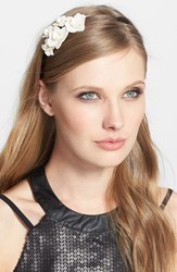 L. Erickson 'Giverny Rose' Headband Black Black Creme