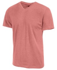 Alfani Slim Fitted V Neck T Shirt Deepsea Coral