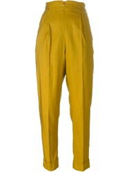 Romeo Gigli Vintage High Waisted Trousers Yellow And Orange
