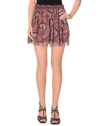 Red Soul Skirts Mini Skirts Women Garnet