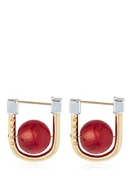 Uribe Camille Bamboo Coral Earrings