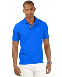 Nautica Men's Short Sleeve Performance Deck Polo Cosmic Cobalt