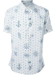 Alexander Mcqueen Tattoo Print Button Down Shirt White