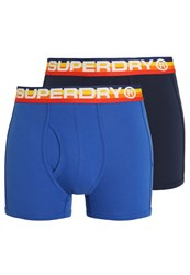 Superdry 2 Pack Shorts Voltage Blue Dark Navy Dark Blue