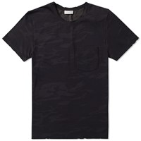 Saint Laurent Camo Pocket Tee Black
