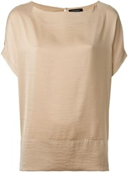 Roberto Collina Batwing Sleeve Top Nude And Neutrals