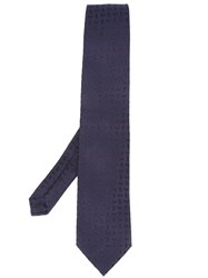 Etro Dotted Pattern Tie Blue