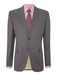 Corsivo Ariele Notch Lapel Suit Jacket Gunmetal