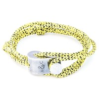 Anchor And Crew Falmouth Rope And Silver Bracelet Yellow Noir