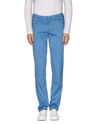 Jaggy Trousers Casual Trousers Men Pastel Blue