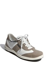 Women's Mephisto Laser Perforated Walking Shoe Light Grey