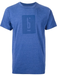 Pigalle Logo Printed T Shirt Blue