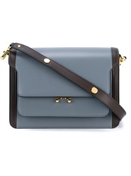 Marni Leather Trunk Bag Blue